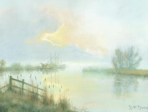 Misty Morning on the Bure
