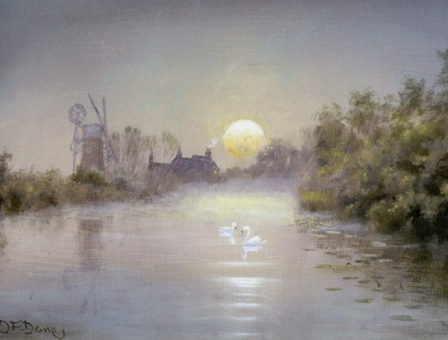 Moon Rise Hunsett Mill