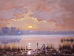 Moonrise - Hardley Flood