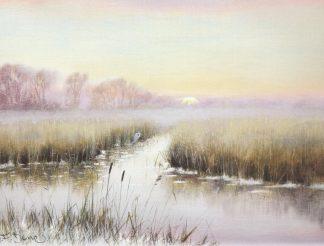 Winter Sunset Sutton Fen