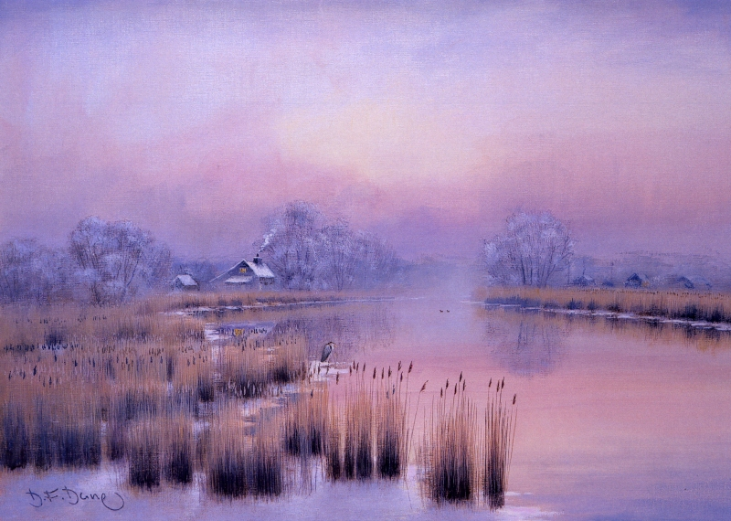 Winter Morning - Horsefen Mill Cottage