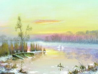 Winter River Horning